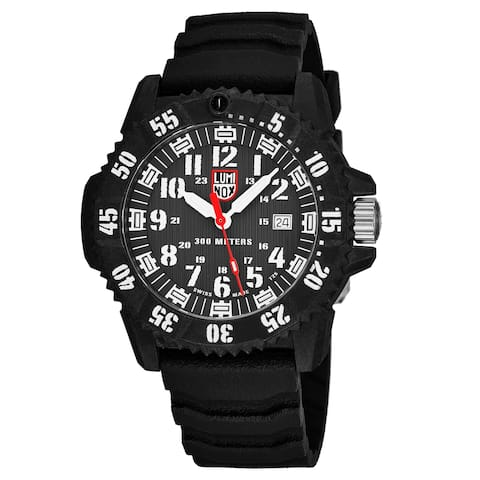 Luminox Men's XS.3801 'Master Carbon Seal 3800' Grey Dial Black Rubber Strap Time Date Swiss Quartz Watch