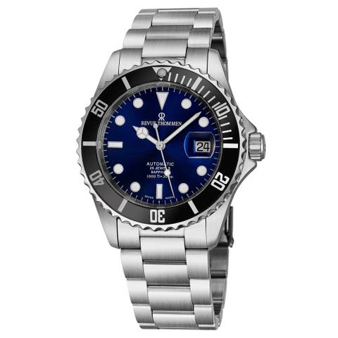 Revue Thommen Men's 17571.2123 'Diver' Blue Dial Stainless Steel Swiss Automatic Watch
