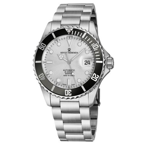 Revue Thommen Men's 17571.2127 'Diver' Silver Dial Stainless Steel Bracelet Swiss Automatic Watch