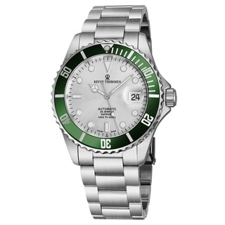 Link to Revue Thommen Men's 17571.2124 'Diver' Silver Dial Stainless Steel Bracelet Swiss Automatic Watch Similar Items in Men's Watches