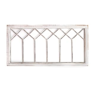 Stratton Home Decor Distressed Window Panel Wall Decor - N/A