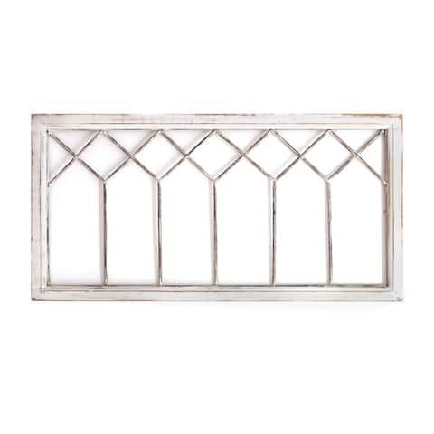 Stratton Home Decor Distressed Window Panel Wall Decor