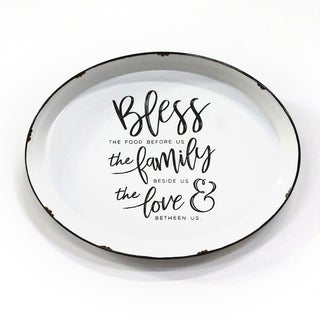 Stratton Home Decor Bless Family and Love Plate Wall Decor - N/A