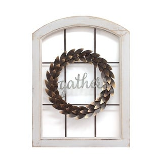 Stratton Home Decor Decorative Window & Wreath Wall Decor - N/A