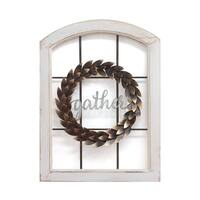Stratton Home Decor Decorative Window & Wreath Wall Decor