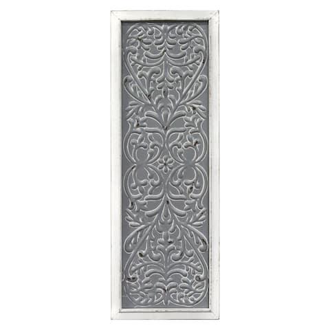 Stratton Home Decor Metal Embossed Panel Wall Decor