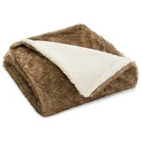 Eddie Bauer Summit Faux Fur Throw - 50X60