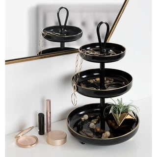 Kate and Laurel Worley 3-Tier Metal Accent Tray