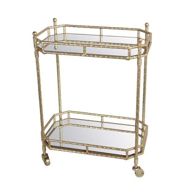 Privilege Gold Metal Bar Cart
