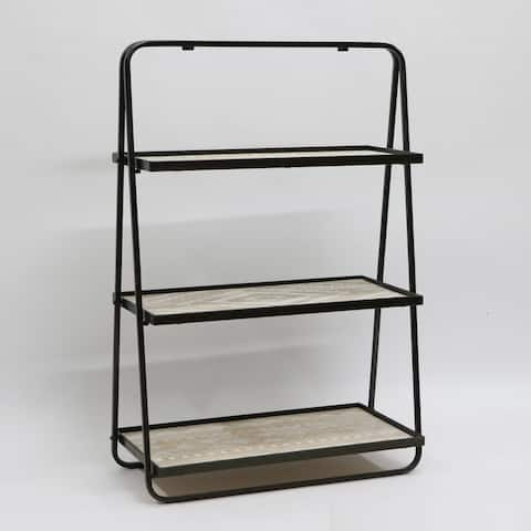 36 inches H Metal and Indoor Multi-Tiered Plant Stand