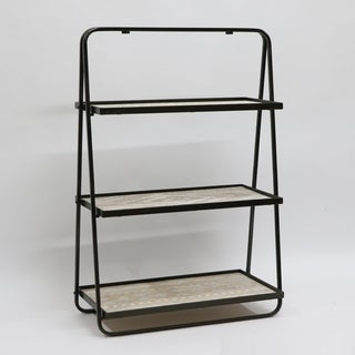shop 36 inches h metal and indoor multi tiered plant stand free shipping today overstock. Black Bedroom Furniture Sets. Home Design Ideas
