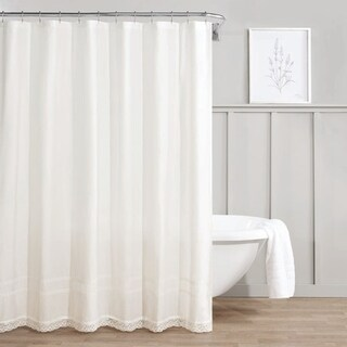Laura Ashley Annabella White Shower Curtain