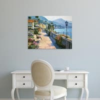 Easy Art Prints Howard Behrens's 'Bellagio Promenade' Premium Canvas Art