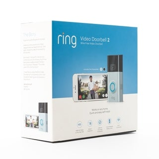 Ring Video Doorbell 2 - Certified Preloved - satin nickle and black