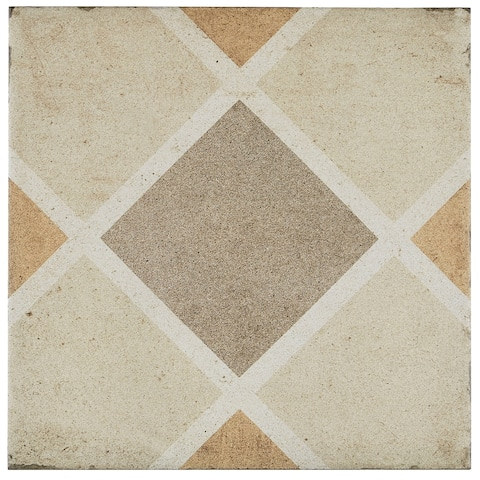 Porcelain Cement Look 8 x 8 inch Warm Blend Decorative Tile in Rombo