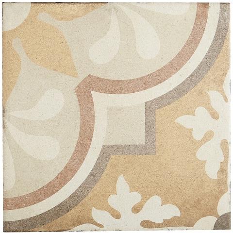 Porcelain Cement Look 8 x 8 inch Warm Blend Decorative Tile in Grande Fiore