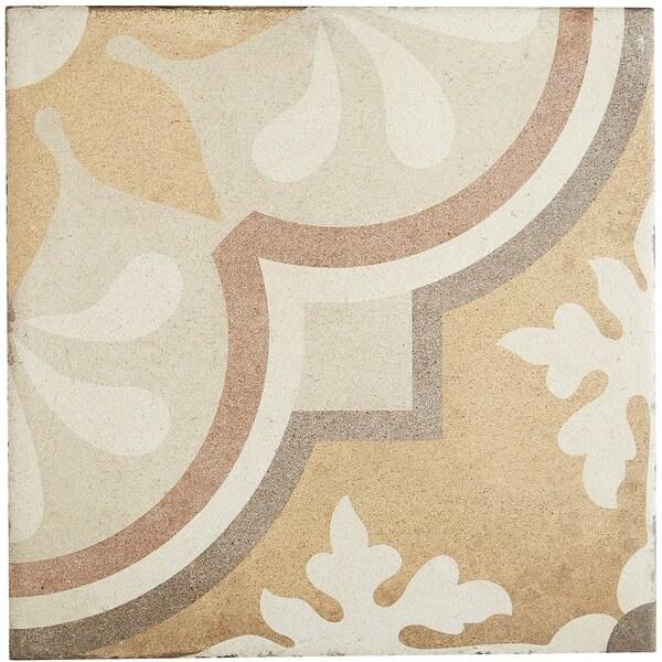 Shop Porcelain Cement Look 8 X 8 Inch Warm Blend Decorative Tile In