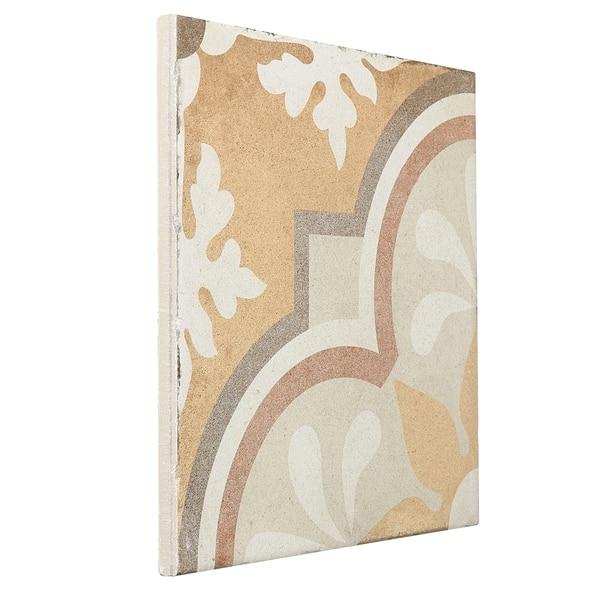 Fiore 98.Shop Porcelain Cement Look 8 X 8 Inch Warm Blend Decorative Tile