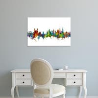 Easy Art Prints Michael Tompsett's 'Lucerne Switzerland Luzern Skyline' Premium Canvas Art