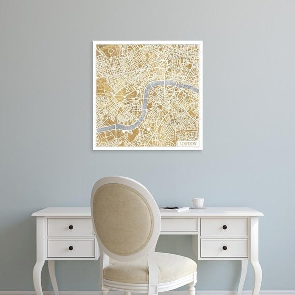 Easy London Map.Easy Art Prints Laura Marshall S Gilded London Map Premium Canvas Art