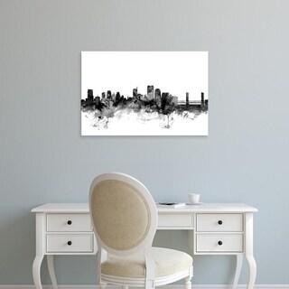 Easy Art Prints Michael Tompsett's 'Sacramento California Skyline' Premium Canvas Art