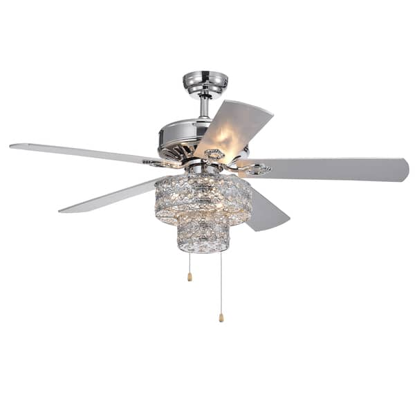 Shang Chrome 52 Inch 5 Blade Ceiling Fan Overstock 22991980
