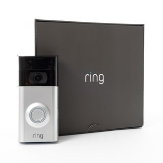 Ring Video Doorbell 2 - satin nickle and black