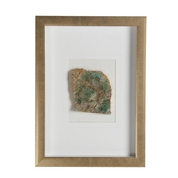 Green Gold Wood Shadow Box - Brown