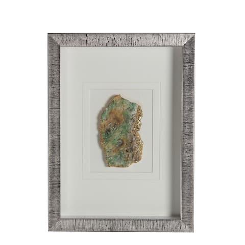 Green Silver Wood Shadow Box - Brown