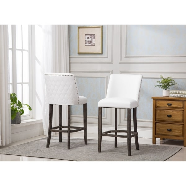 Shop Best Quality Furniture Quilted White Faux Leather