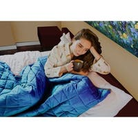 CMFRT Blue/Grey Weighted Blanket for Adults 16 - 25 lbs