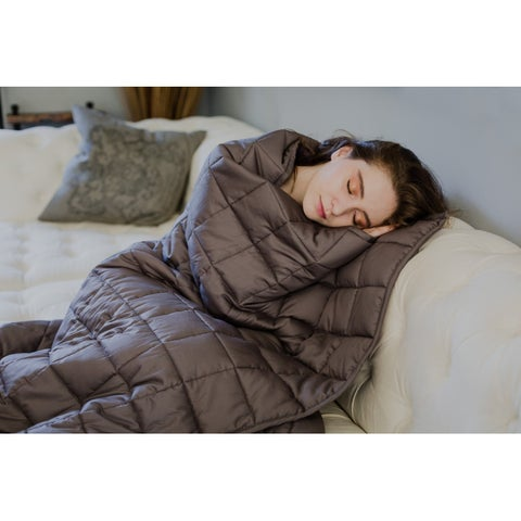CMFRT Grey/Grey Weighted Blanket for Adults - 20 lbs