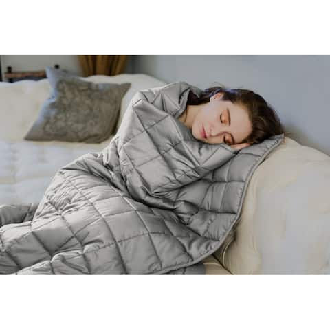 CMFRT Grey/Grey Weighted Blanket for Adults 16 - 25 lbs