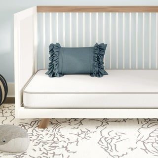 Avenue Greene Melody White Toddler Baby Crib and Toddler Mattress