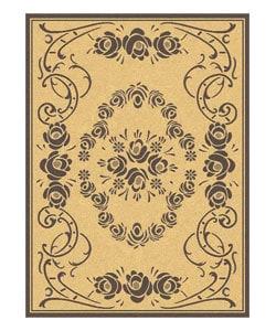 Safavieh Garden Elegance Natural/ Brown Indoor/ Outdoor Rug (4' x 5'7)