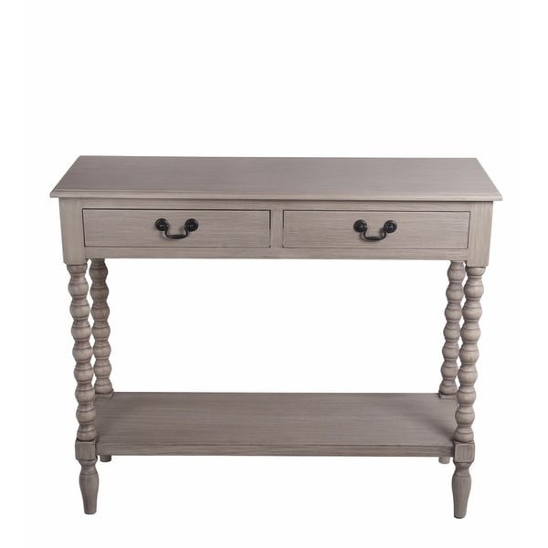 Privilege Savannah Wood 2 Drawer Accent Console Table