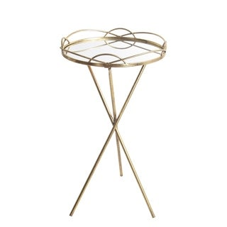 Privilege Large Goldtone Metal Round Accent Stand