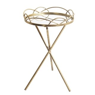 Privilege Gold Metal Small Round Accent Stand