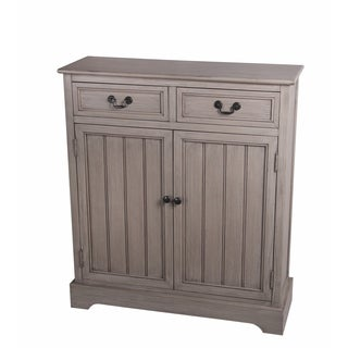 Privilege 2-drawer 2-door Savannah Brown Wood Accent Chest