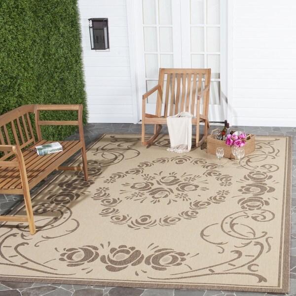 Safavieh Garden Elegance Natural/ Brown Indoor/ Outdoor Rug - 8' x 11'