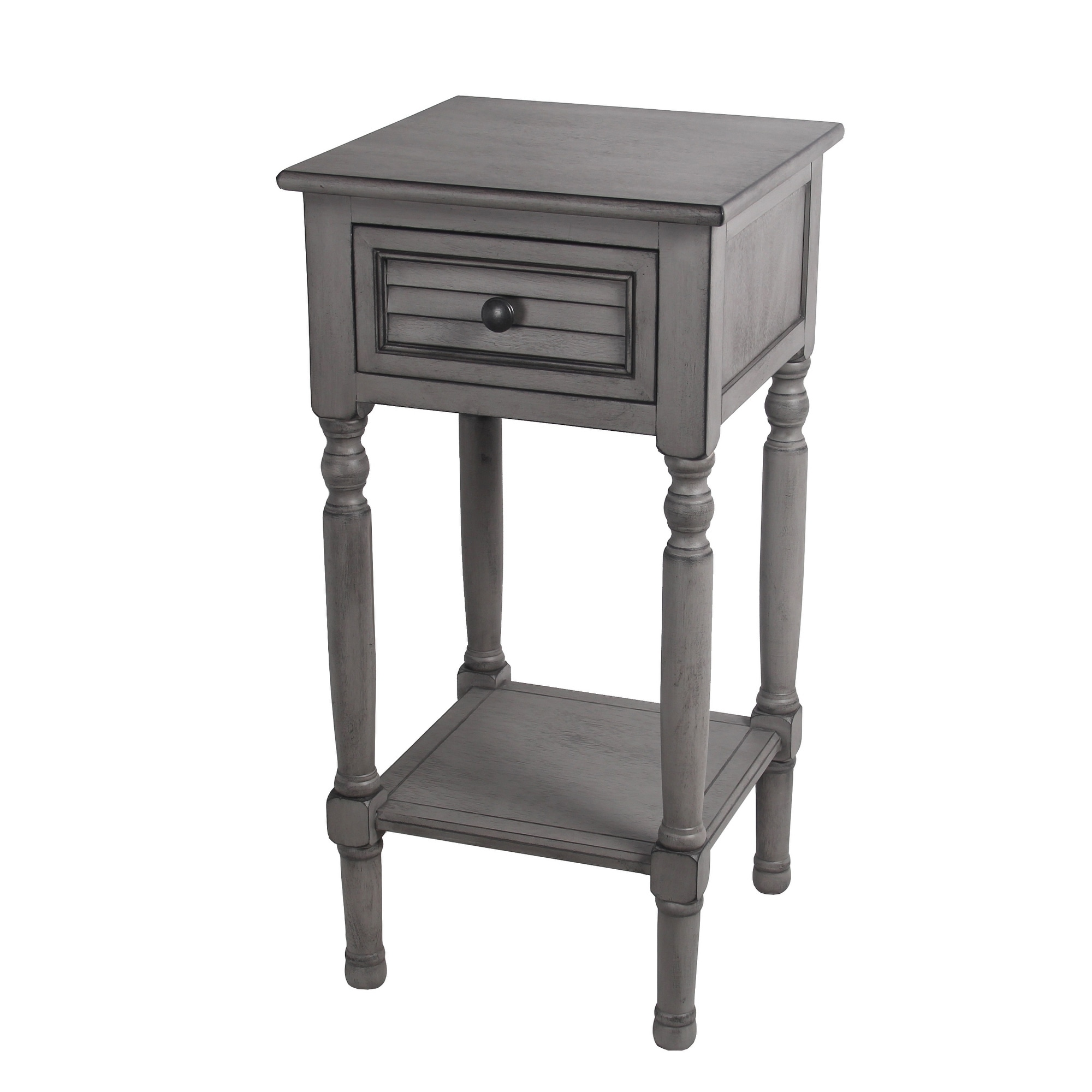 - Shop 1 Drawer Provincial Gray Accent Table - Free Shipping Today