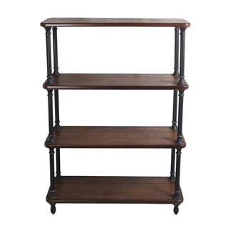 Privilege Natural Finish Iron Metal Bakers Rack