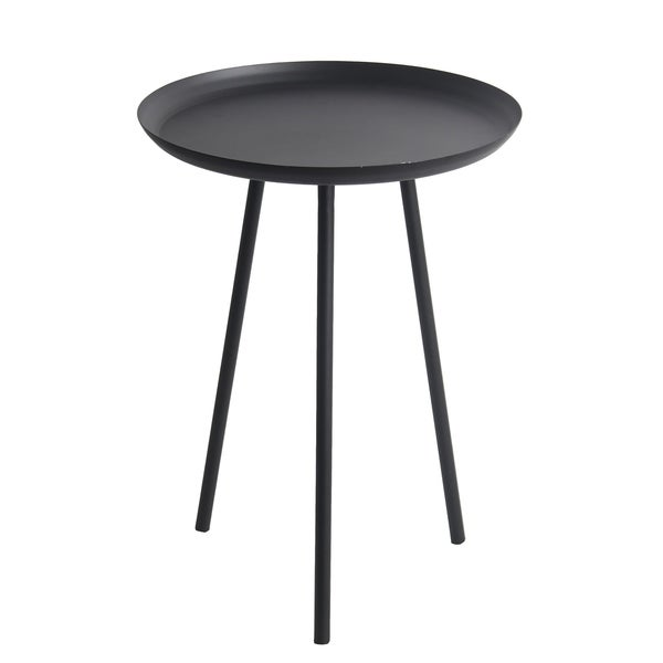 Black Metal Round Accent Table