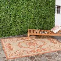 """Safavieh Garden Elegance Natural/ Terracotta Indoor/ Outdoor Rug - 4' x 5'7"""""""