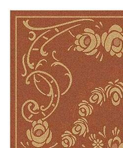 Safavieh Indoor/ Outdoor Garden Terracotta/ Natural Rug (4' x 5'7)