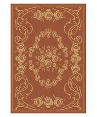 Safavieh Garden Elegance Terracotta/ Natural Indoor/ Outdoor Rug (4' x 5'7) - 4' x 5'7