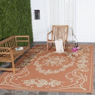 Safavieh Indoor/ Outdoor Garden Terracotta/ Natural Rug (5'3 x 7'7)