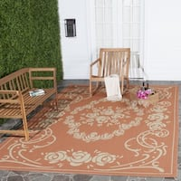 "Safavieh Garden Elegance Terracotta/ Natural Indoor/ Outdoor Rug - 5'3"" x 7'7"""