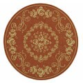 Safavieh Garden Elegance Terracotta/ Natural Indoor/ Outdoor Rug (6'7 Round)