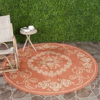 "Safavieh Garden Elegance Terracotta/ Natural Indoor/ Outdoor Rug - 6'7"" x 6'7"" round"